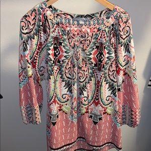 Multi Pink Floral/Geometric blouse